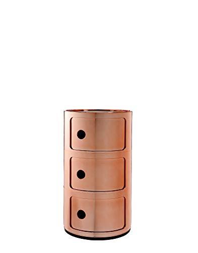 Kartell Componibili Contenitore, ABS, Arancione, 32 x 32 x 58 cm