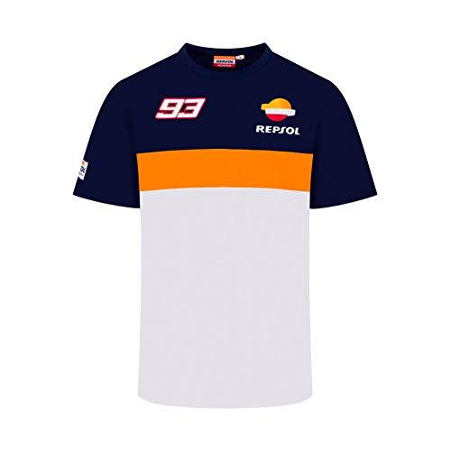 Repsol Marc Marquez 93 MotoGP Panel Blau T-Shirt Offiziell 2020