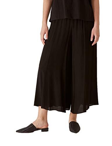 Elena Mirò : Falda pantalón Cropped de Tejido marroquí Negro 41 Mujer