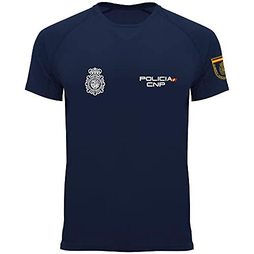 Crossfire Policía Nacional Hombre- Camiseta Técnica de Hombre de la Policía Nacional (L)