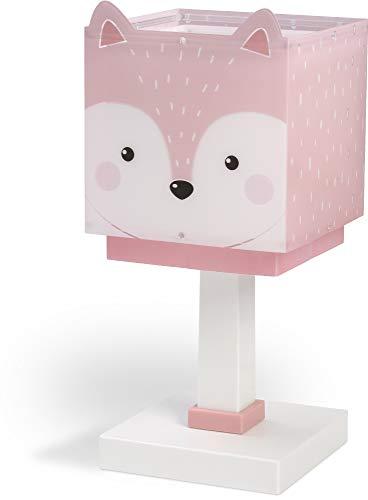 Dalber Kinder Tischlampe Nachttischlampe Little Fox Fuchs Tiere Rose