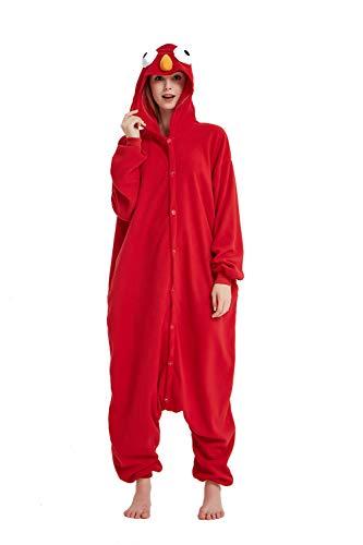 SSM Unisex Erwachsene Pyjama Jumpsuit, Plüsch Onesie Einteiler Sesamstraße Tier Kostüm, Cosplay Halloween Karneval Bär L
