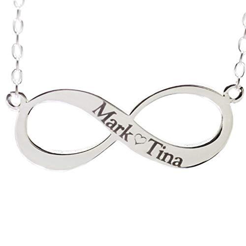 MyOwnName ∞ Infinity Kette mit eigenem Namen Gravur ∞ Namenskette Silber
