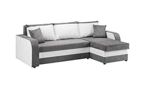 Honeypot - Sofa - Kris Universal - Sofa Bed - Faux Leather/Fabric (White/Grey)