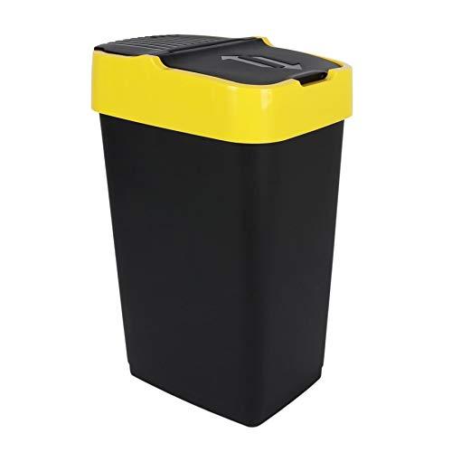 Spetebo Abfalleimer mit Schwingdeckel - 35 L - Mülleimer Abfallsammler Abfallbehälter