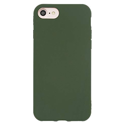 Danbey Matte Case for iPhone 8, for iPhone 7, 4.7 inches, Matte Surface Slim Cover, Skin Feeling, 1.5mm Thick Flexible TPU, Charming Solid Color - Dark Green