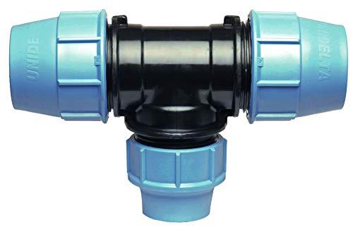 Conector de tubería de agua PP Pieza en T con tres salidas