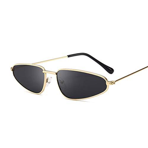 ShSnnwrl Único Gafas de Sol Sunglasses Nuevas Gafas De Sol De Ojo De Gato Pequeñas Y Sexis para Mujer, Gafas De Sol Negras Vintag