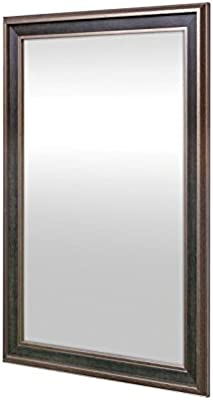 999Store Fiber Framed Decorative Wall Mirror or Bathroom Mirror Brown (30X20)