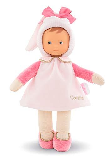 Corolle- Miss rayée Pays des rêves Doudou poupée, 010040, Rose
