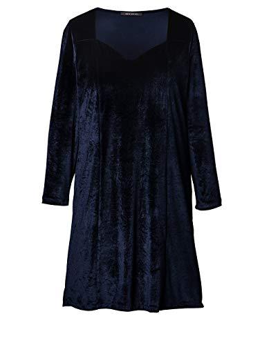 Sara Lindholm Damen Samt-Kleid Blau 54 Kunstfaser