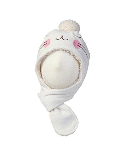 Zutano Little Girls' Velour Bunny Hat - Cream 4T