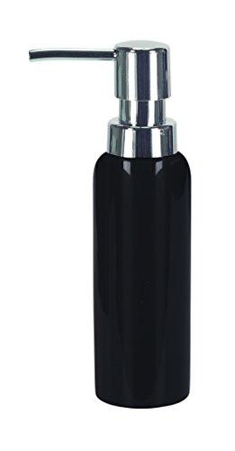 Kleine Wolke 5084926854 Seifenspender Pur Shiny, Bad-Accessoires, schwarz Cubic