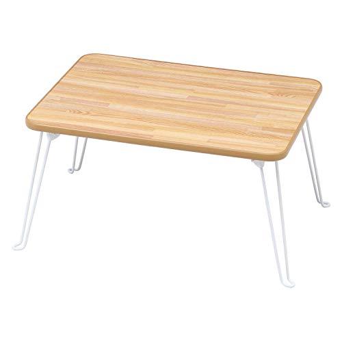 不二貿易 折りたたみ ローテーブル 幅60cm ナチュラル 78144