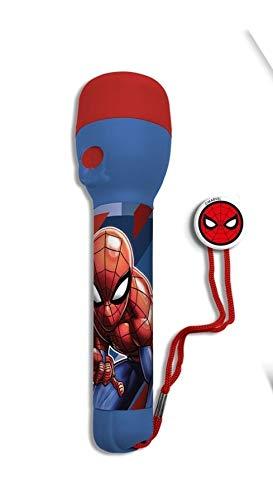 Linterna LED para niños con diseño de Patrulla Canina, Vengadores, Frozen, Disney, Trolls Night Light para niños 3+ (Spiderman (linterna grande))