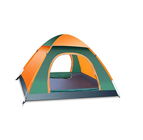 Ezone Instant Pop Up Camping Tent Waterproof 3-4 Person Camping Tent, Quick Set Up, Outdoor Hiking Backpacking Tent Shelter (E)