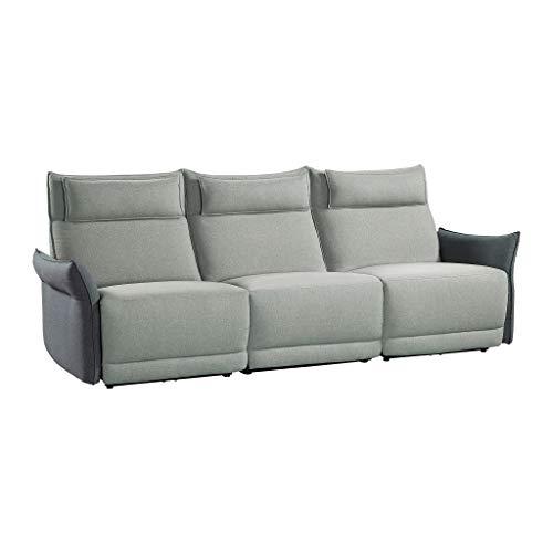 Homelegance Power Reclining Sofa with Adjustable Headrest & Arm, 106' W, Gray