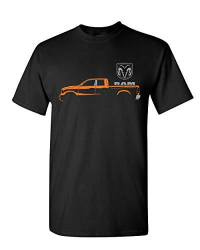 Dodge RAM Truck T-Shirt Heavy Duty V8 Pickup Truck Mens Tee Shirt Black XL