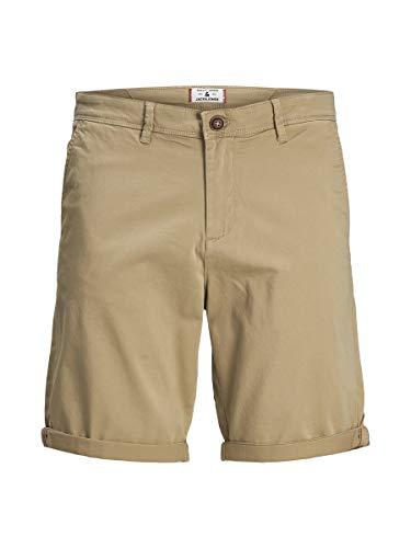 Jack & Jones Jjibowie Jjshorts Solid Sa STS Pantalones Cortos Chinos, Caqui, L para Hombre