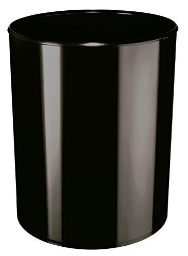 HAN Sicherheitspapierkorb 1814-F-13 in Schwarz/Flammhemmender Papierkorb in elegantem Design/Für mehr Sicherheit im Büro/Fassungsvermögen: 13 Liter