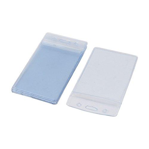 Plástico Transparente Impermeable Negocio Exposición ID Nombre Portatarjetas 5 Piezas