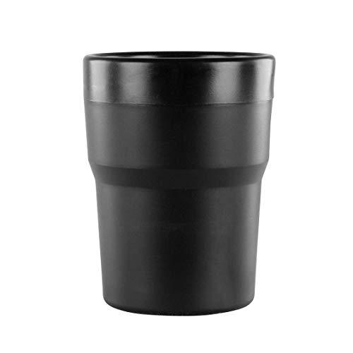 Mülleimer, passend für Getränkehalter, 10 cm, schwarz, Auto, PKW, LKW, Wohnwagen, Wohnmobil, Armaturenbrett, Papierkorb, Mini-Mülleimer, Mini-Papierkorb, Box, Ablage, Kleingeld, Schlüssel