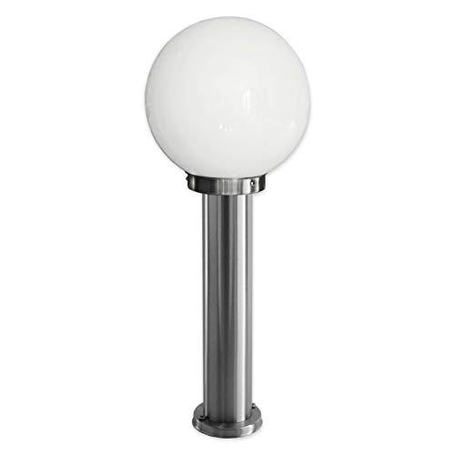 Aussenleuchte Standleuchte Wegeleuchte LED 4W warmweiß Standlampe Gartenleuchte Edelstahl E27 Fassung 270-500