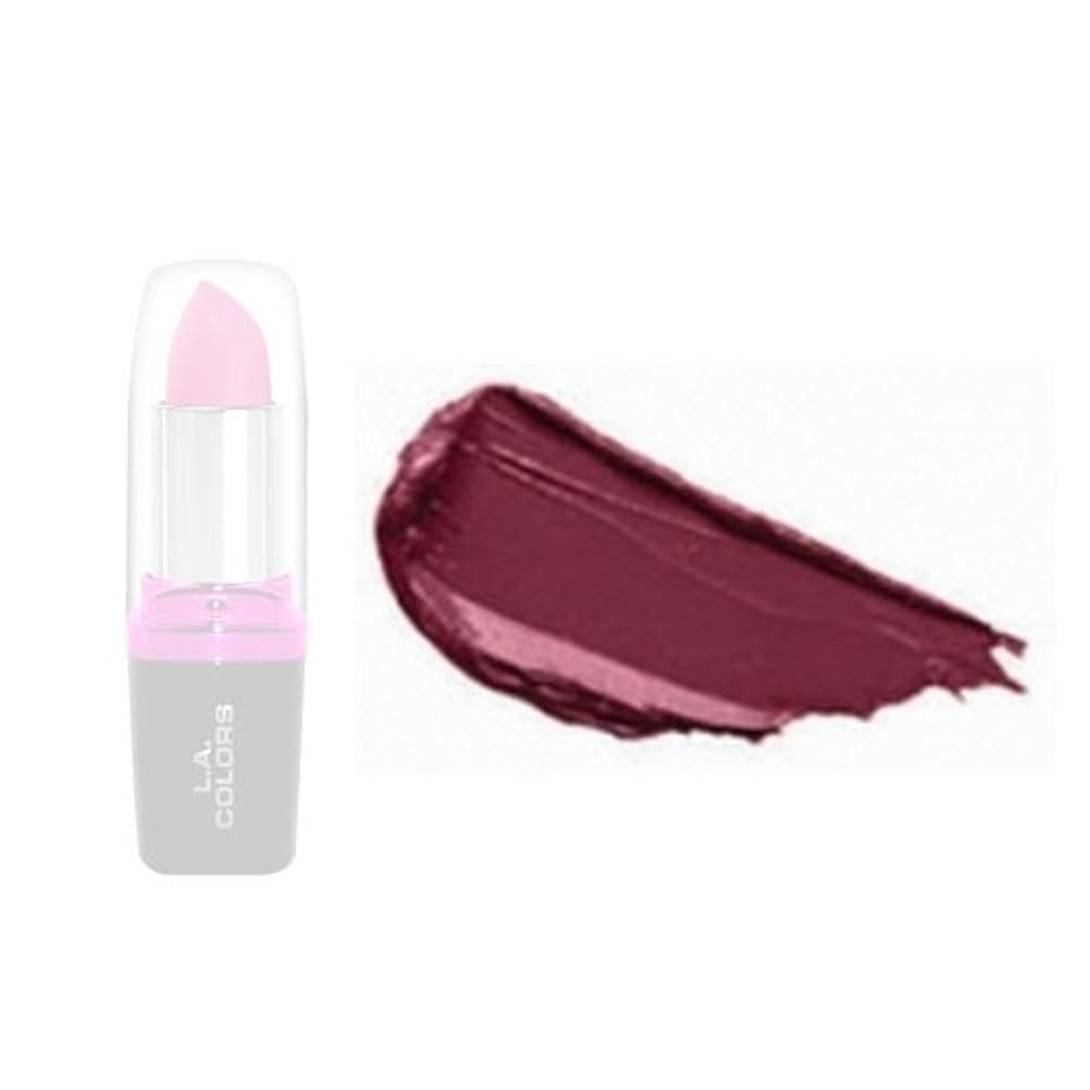 調整紫のアイザックLA Colors Hydrating Lipstick - Merlot (並行輸入品)