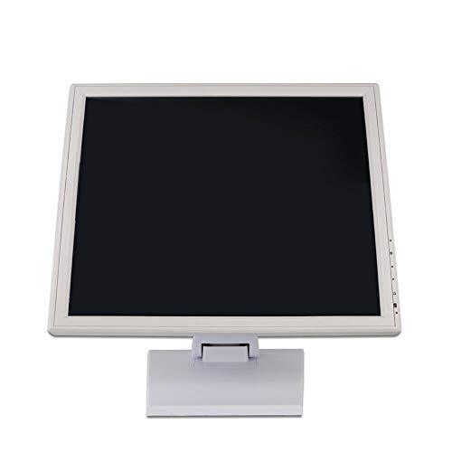Monitor táctil LCD de 17 pulgadas, color blanco, con soporte para puntos de venta (Hdmi/Vga/USB), tiempo de respuesta de solo 5 ms