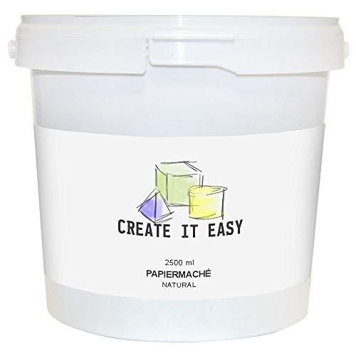 CREATE IT EASY NEU Papiermaché Natural, Trockenmodelliermasse 2500g