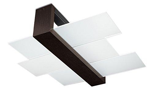 Sollux Lighting SL.0074 Feniks 2 SL.0074 - Lámpara de techo cuadrada (2 luces), color wengué