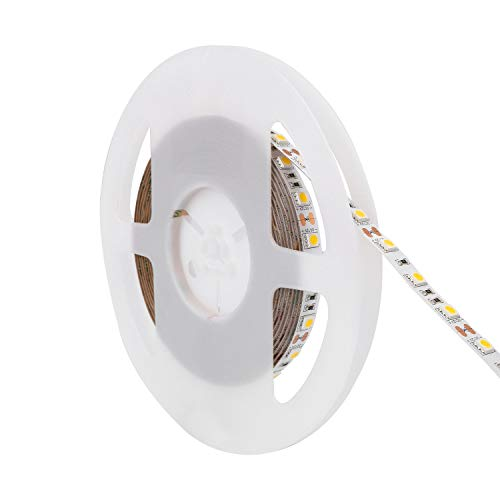 LEDKIA LIGHTING Tira LED 12V DC 60LED/m 5m IP20 Blanco Cálido 2800K - 3200K