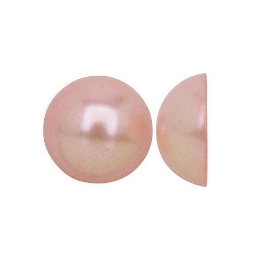 Beadaholique Acrylic Faux Pearl Flatback Cabochons 10mm - Pearlized Peach Pink (25)