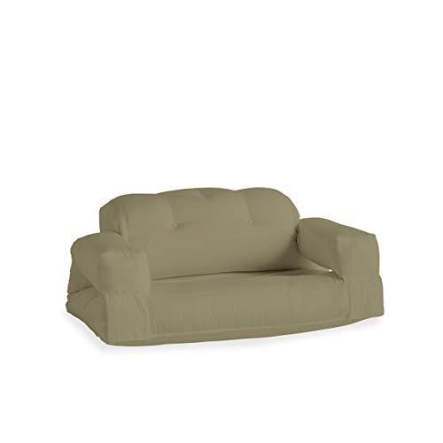 Karup Design Hippo Out Loungesofa Outdoor Lounge Möbel und Gartenmöbel mit schmutzresistenten und wasserabweisenden Dralon-Stoff bedeckt im Beige 140x100x70