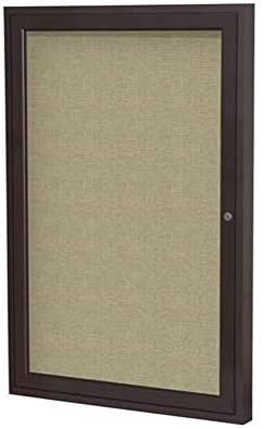 Enclosed Fabric Bulletin Board with Indoor Aluminum Frame Austin Be super welcome Mall - 18