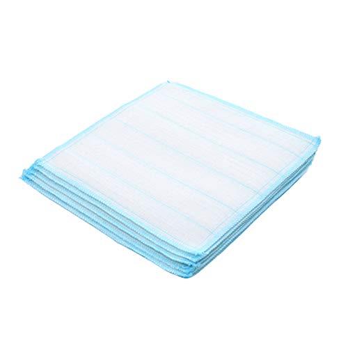 QLSN Paño De Cocina, Toallas Limpieza Extra Suaves Hogar, Muy Absorbentes Towels, Paño Multiusos Cocina, Toallas Suave Duradero Diseño, Lavable Máquina Towels 5 Pcs Azul.