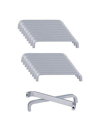 SPDYCESS 20 Piezas Tirador de Aleación de Aluminio Tiradores para Muebles Cajones Armario Alacenas Palancas de Puerta(Distancia del Agujero 96MM)
