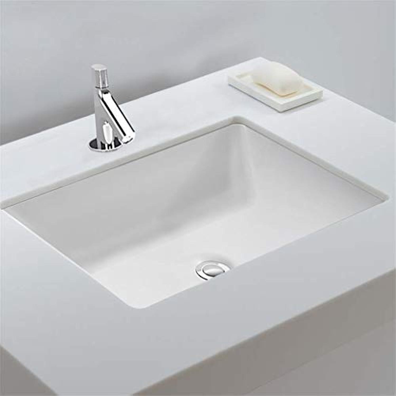 LHY BATHLEADER Badezimmer Luxurise Keramik Waschbecken mit überlaufloch Embedded InsGrößetion Rechteckige Spüle