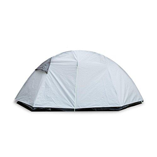 Yukatana Cennte Tienda de campaña Trekking para 1-2 Personas 155x115x265cm (poliéster Impermeable 2000 mm, súperligera, mosquitera Interior, Tubos Fibra de Vidrio, piquetes Acero, Gris)