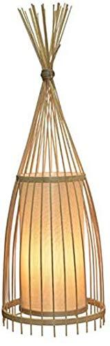 QTWW Lámpara de pie Creative Bamboo E27 Sala de Estar, Estudio, lámpara de bambú, con Interruptor (Tamaño: Diámetro 30 * 158 cm de Alto)