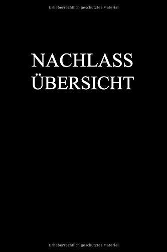Nachlass Übersicht: Buch für die...