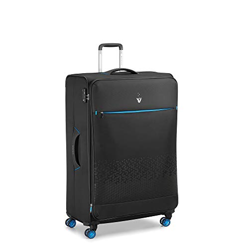 RONCATO Crosslite Trolley morbido large espandibile 4 ruote Nero tsa