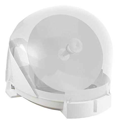 Maxview MXL023 VUQube 2 Fully Automatic Portable Roof Mount Caravan Motorhome Satellite Dish with Twin LNB - White