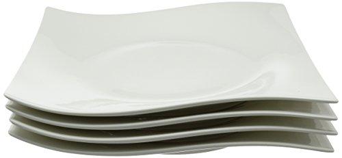 Maxwell & Williams 27cm Porcelain Motion Quadrato Piatto, Set di 4