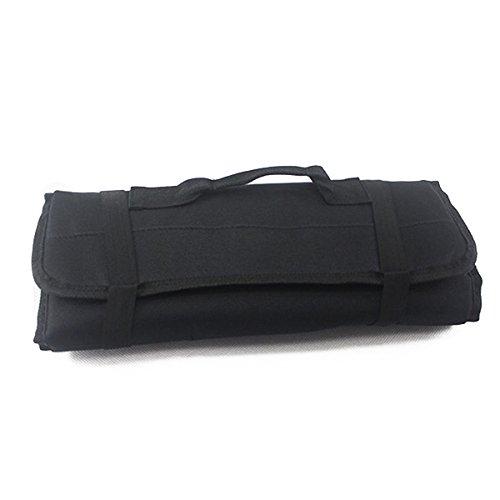 PIXNOR Estuche porta herramientas Enrollable (Negro)