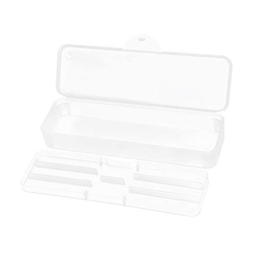 Hellery Doubles Couches Boîte de Rangement Nail Art Tools Holder Stand Display Box - c