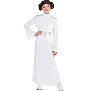 Costumes USA Star Wars Princess Leia Costume for Girls Small  4-6  Includes Dress with Hood Wig and Belt