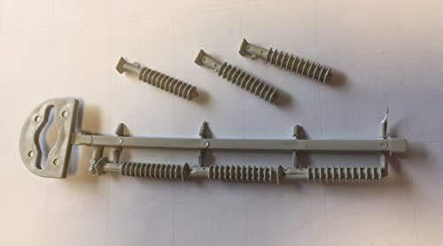 Dural plástico tacos para MultiFloor umbral puerta Bar Set de 6Código; ld-6040b