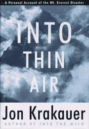 Into Thin Air - w/ Dust Jacket