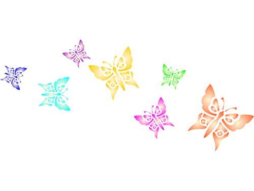Plantilla de mariposas – Plantilla reutilizable de insectos de animales – Uso en proyectos de papel, álbumes de recortes, paredes suelos, tela, muebles, vidrio, madera, etc. medium